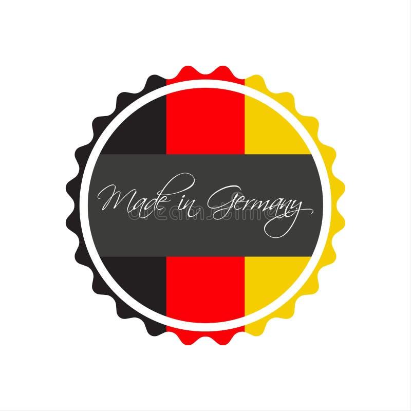Made In Germany Symbol German Sticker Stock Vector Illustration
