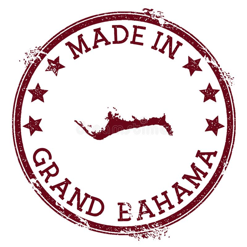 Made in Grand Bahama stamp. Grunge rubber stamp with Made in Grand Bahama text and island map. Nice vector illustration vector illustration