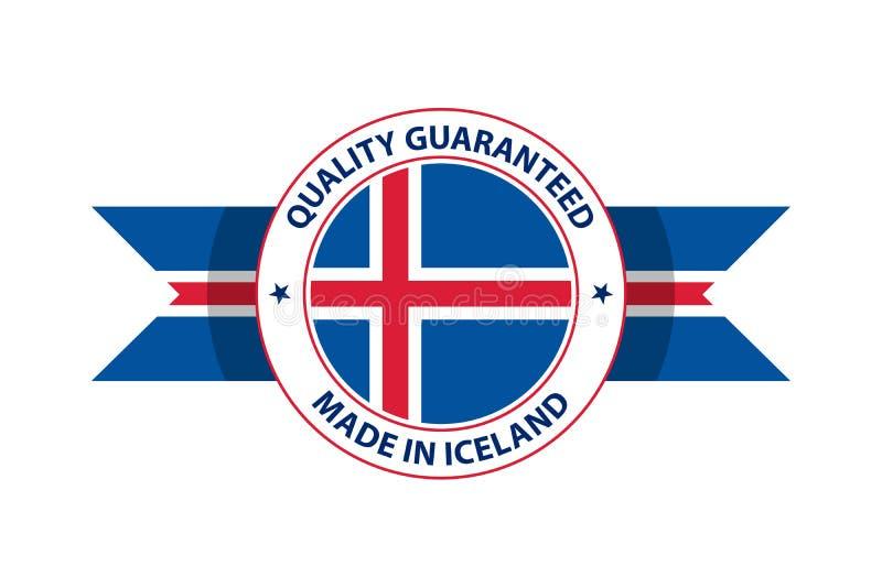 Made in Iceland quality stamp. Vector illustration. Rejkjavik royalty free illustration