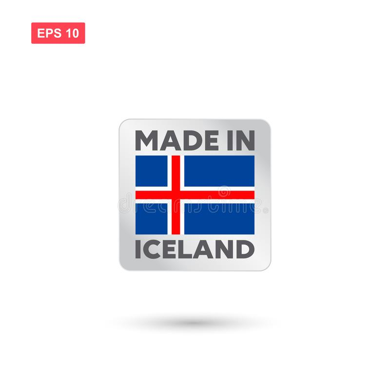 Made in iceland vector. Eps10 stock illustration