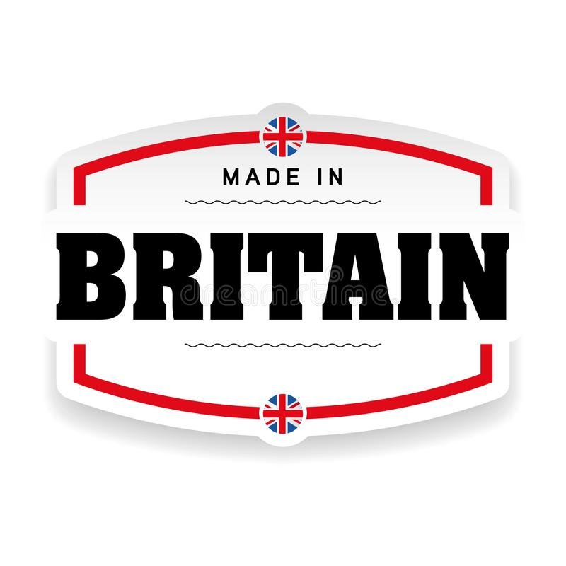 Free Made In Britain Label Stock Photo - 129435180