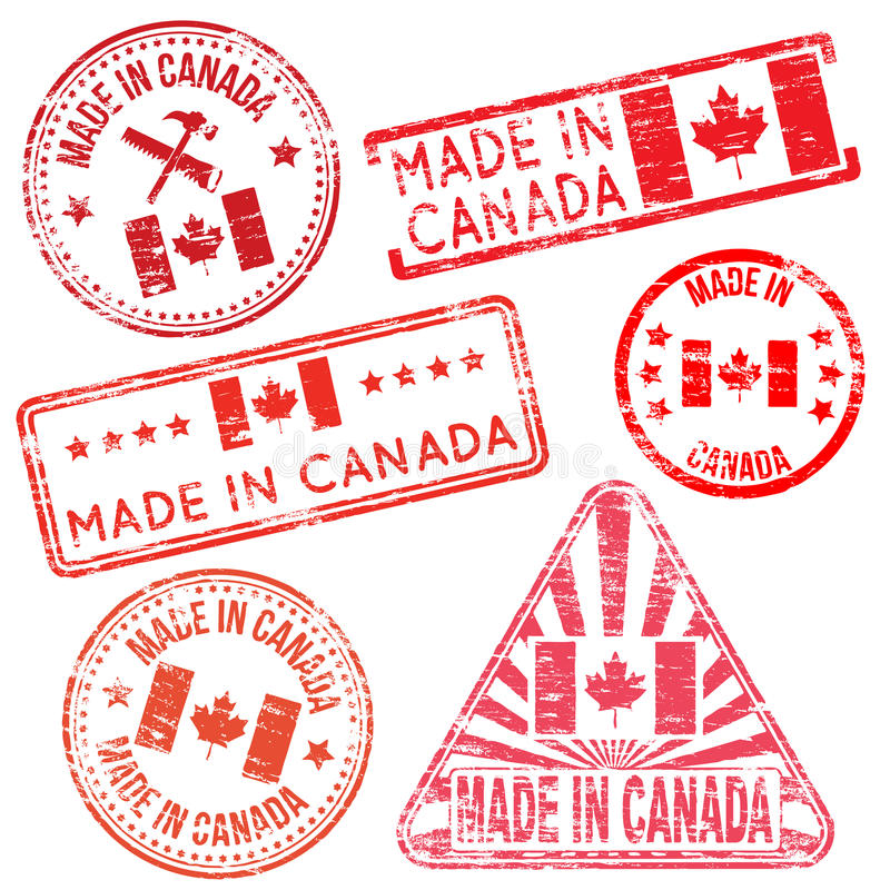 Free Made In Canada Rubber Stamps Stock Image - 48621061