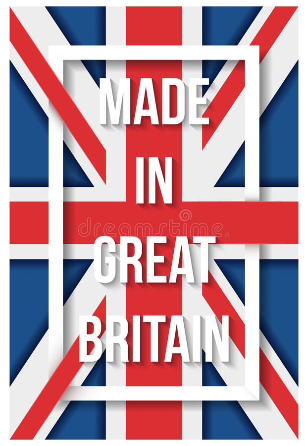 Free Made In Great Britain Flag Poster Royalty Free Stock Photo - 90708755