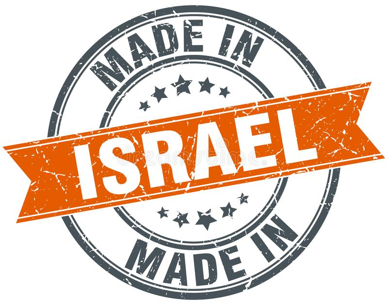 Made in Israel stamp. Made in Israel round grunge stamp isolated on white background. Israel. made in Israel royalty free illustration