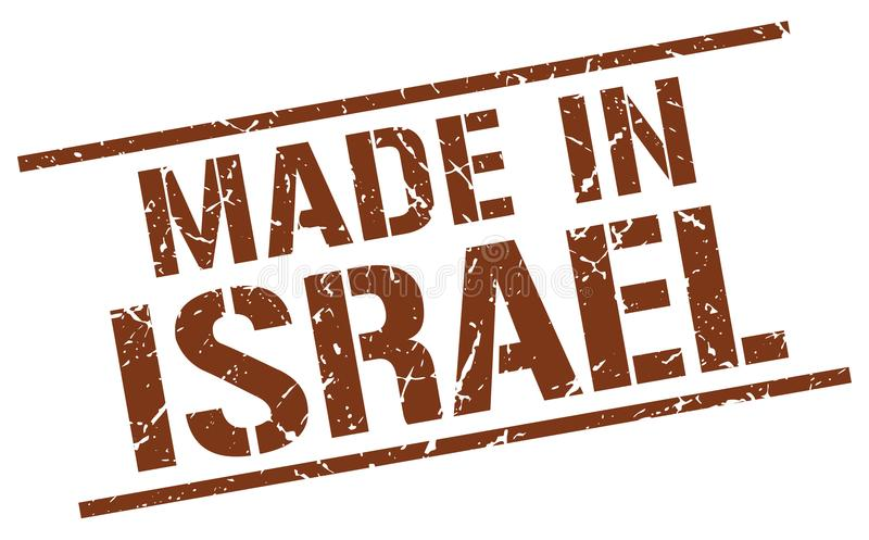 Made in Israel stamp. Made in Israel square grunge stamp isolated on white background. Israel royalty free illustration