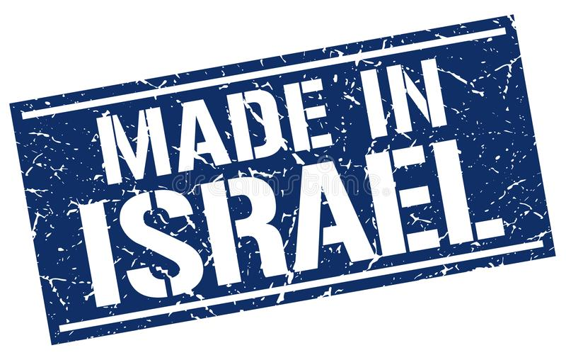 Made in Israel stamp. Made in Israel square grunge stamp isolated on white background. Israel vector illustration