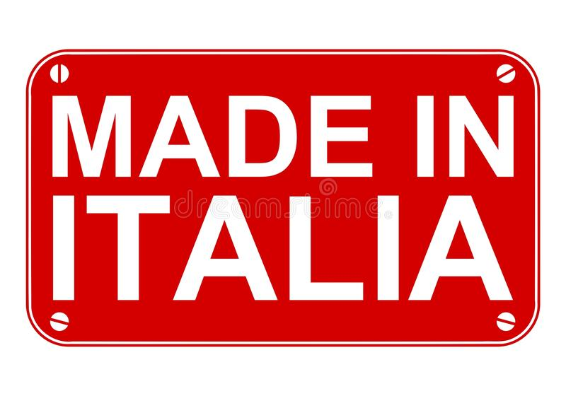 Made in Italia sign vector illustration