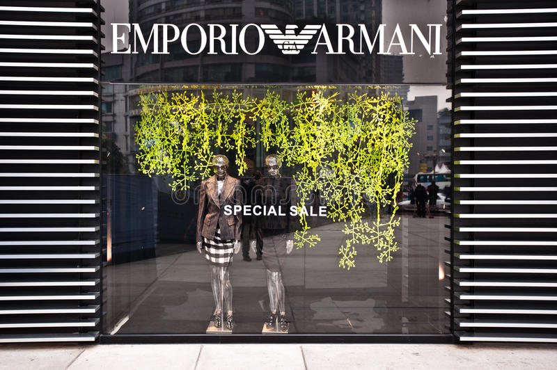 Download MADE IN ITALY: Emporio Armani Store Editorial Stock Image - Image: 24308184