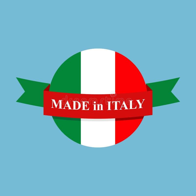 Made in Italy logo. Italian production Sign. stock illustration
