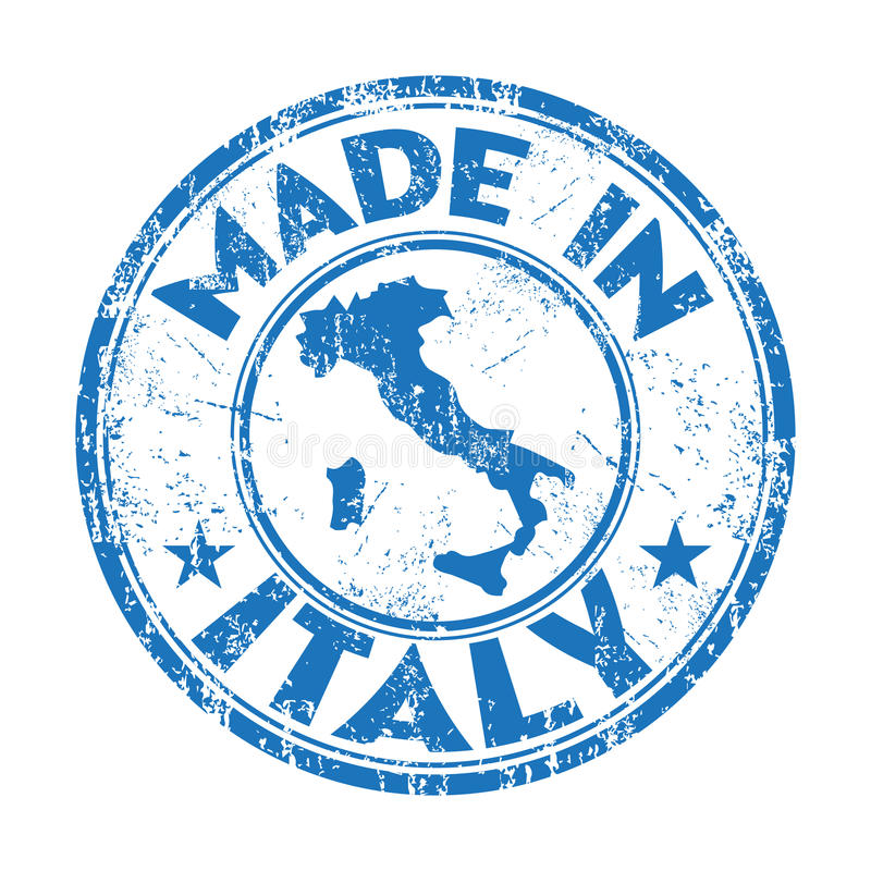 Made in Italy rubber stamp royalty free stock photo