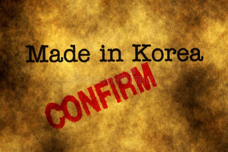 Made in Korea conferma immagini stock libere da diritti