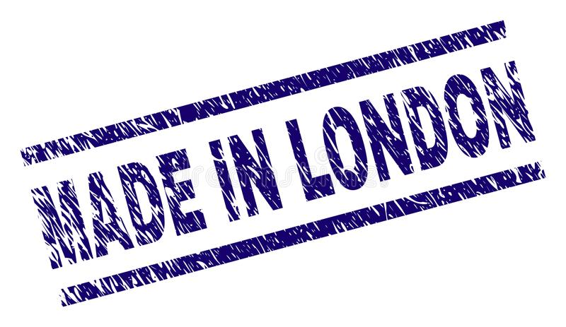 Grunge Textured MADE IN LONDON Stamp Seal vector illustration