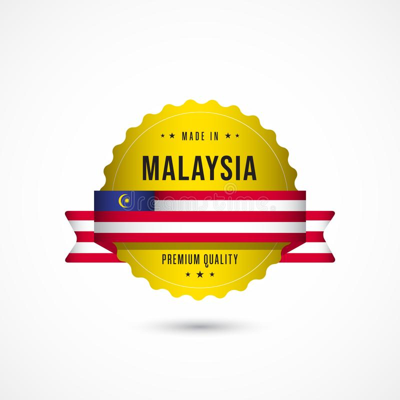 Made in Malaysia Premium Quality Label Badge Vector Template Design Illustration vector illustration