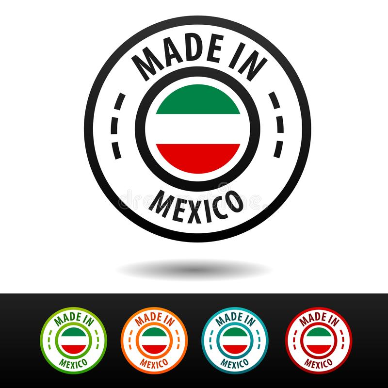 made in mexico badges with mexican flag flat eps10 vector stock rh dreamstime com tequila made in jalisco mexico logo made in new mexico logo