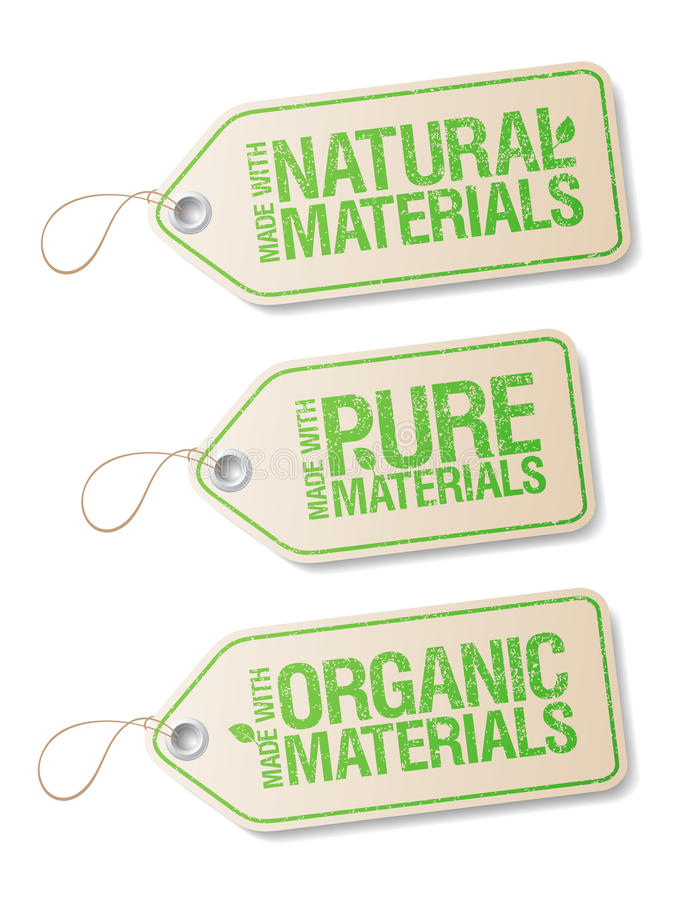 Download Made With Natural Pure Materials Labels. Stock Vector - Image: 23547206