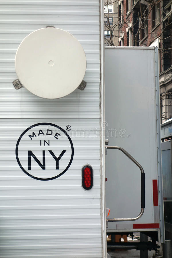 Made in NY. A movie trailer with the logo Made in NY, a program of City of New York Mayor's Office of Film, Theatre & Broadcasting that provides marketing stock photography