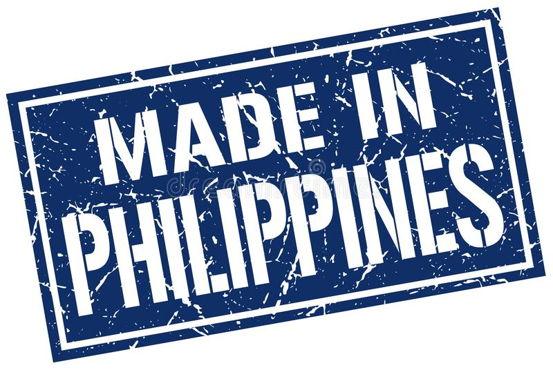 made in Philippines stamp stock illustration
