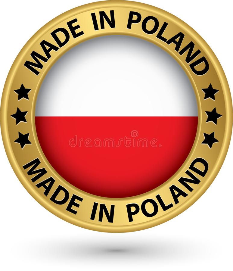 Made in Poland gold label, vector illustration vector illustration