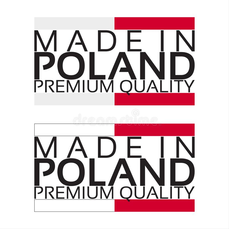 Made in Poland icon, premium quality sticker with Polish colors vector illustration