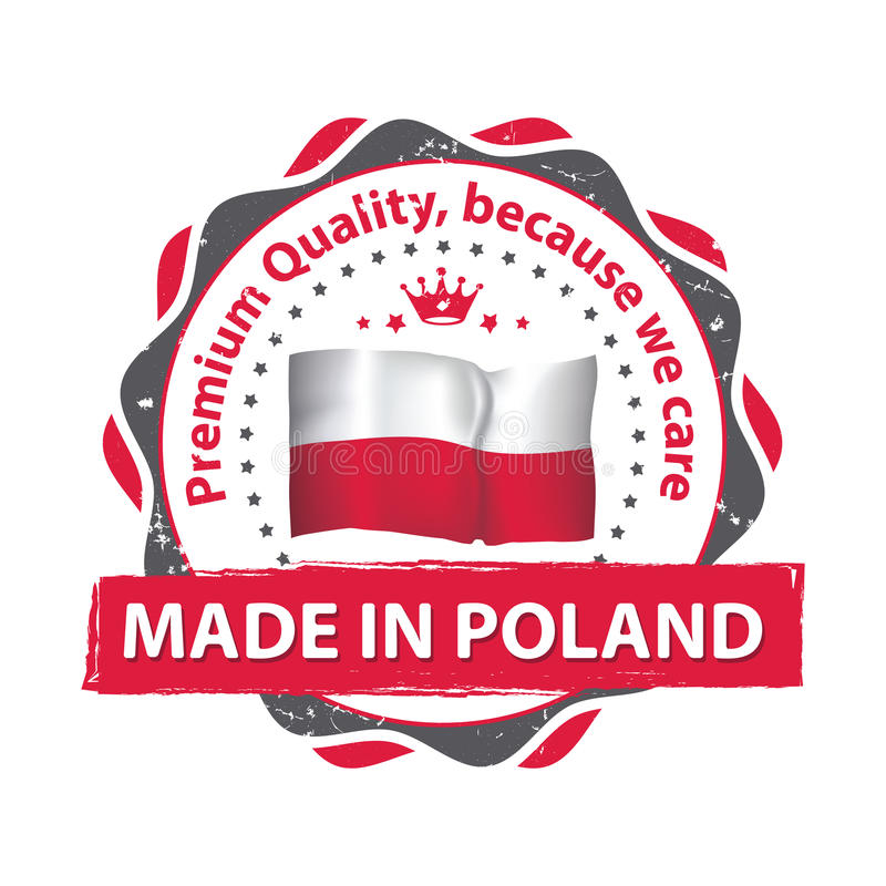 Made in Poland, Premium quality stamp for print royalty free illustration