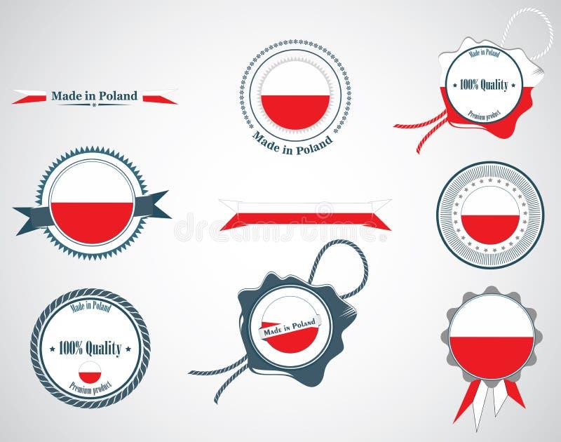 Made in Poland - seals, badges. vector illustration