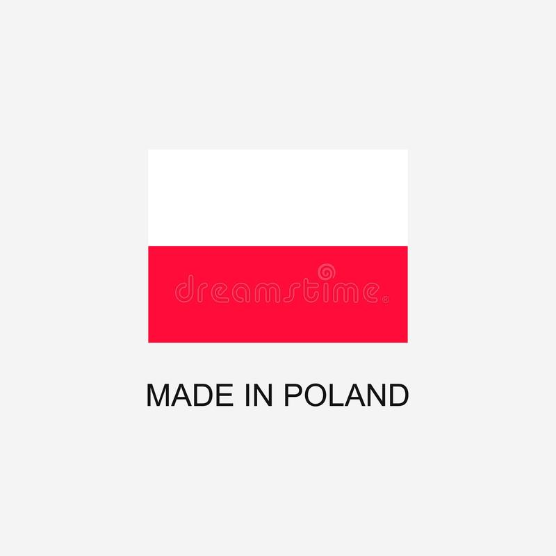 Made in Poland sign stock illustration