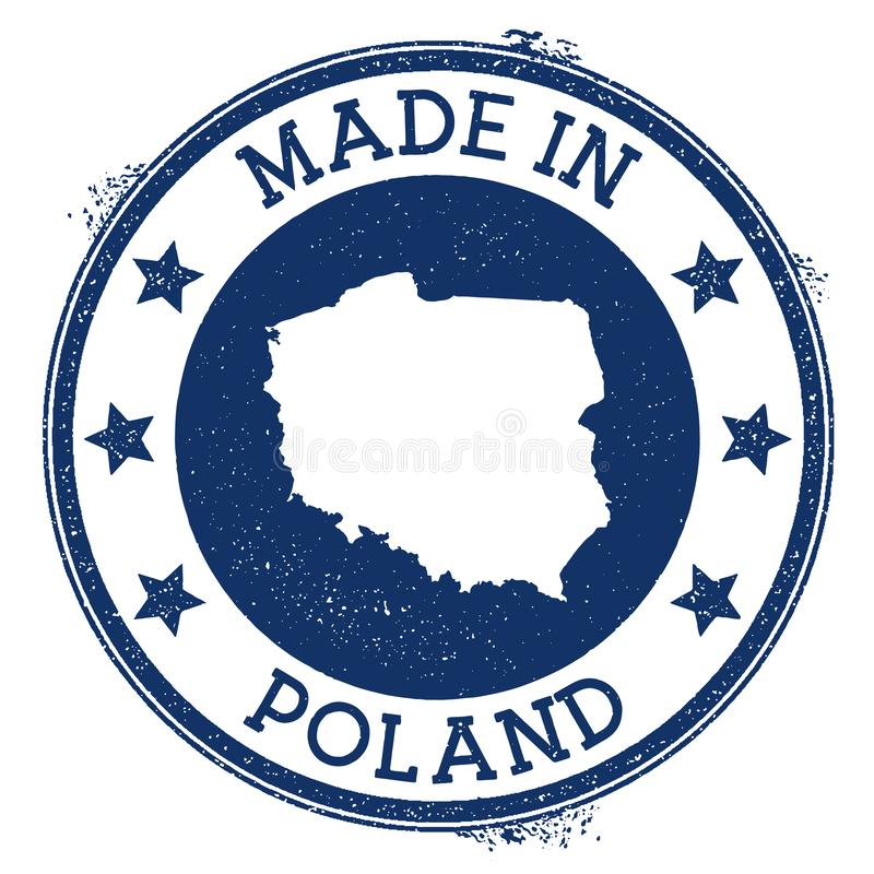 Made in Poland stamp. stock illustration