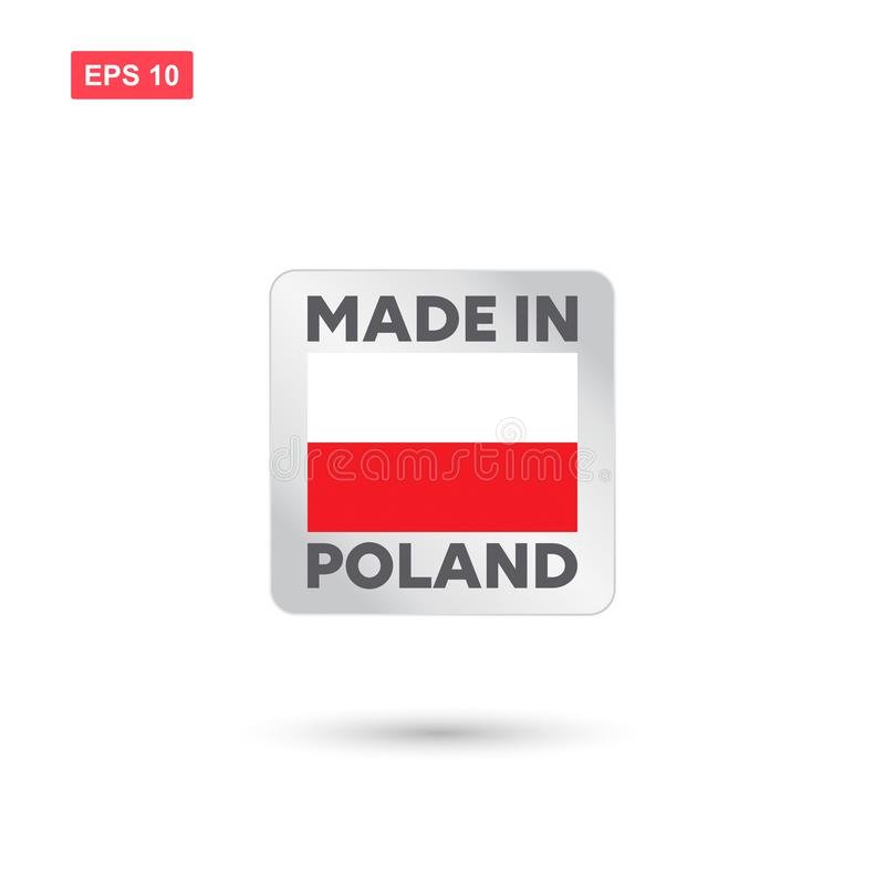 Made in poland vector royalty free illustration
