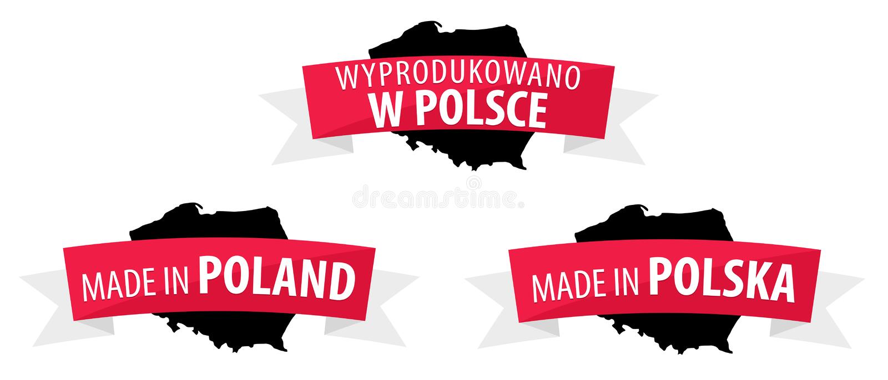 Made in Poland - Wyprodukowano w Polsce vector illustration