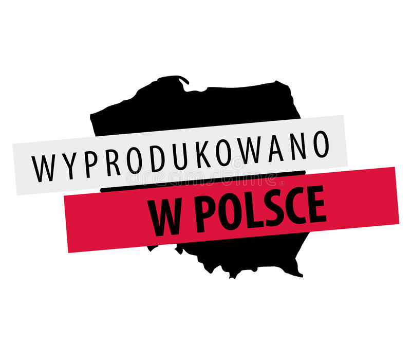 Made in Polska - Wyprodukowano w Polsce vector illustration