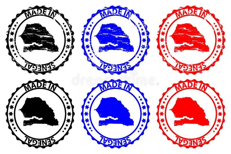 Made in Senegal rubber stamp vector illustration