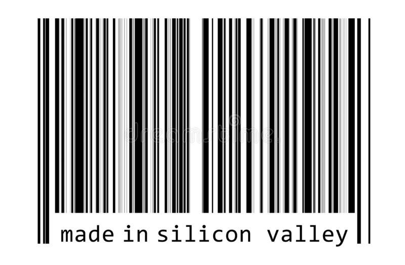 Made in Silicon Valley. Bar code stock illustration