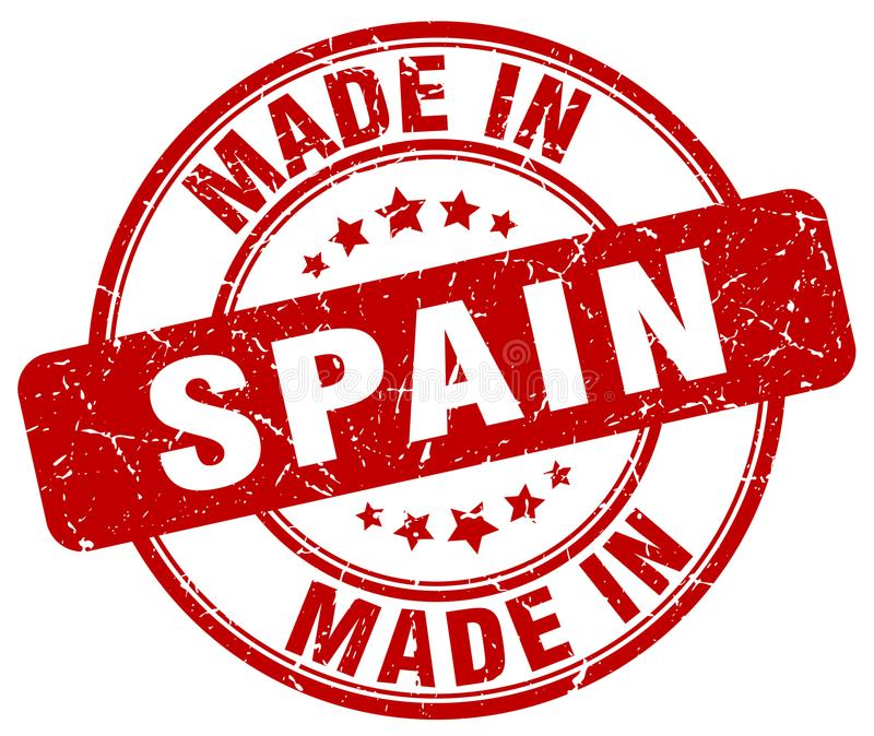 Made in Spain stamp. Made in Spain round grunge stamp isolated on white background. Spain. made in Spain stock illustration