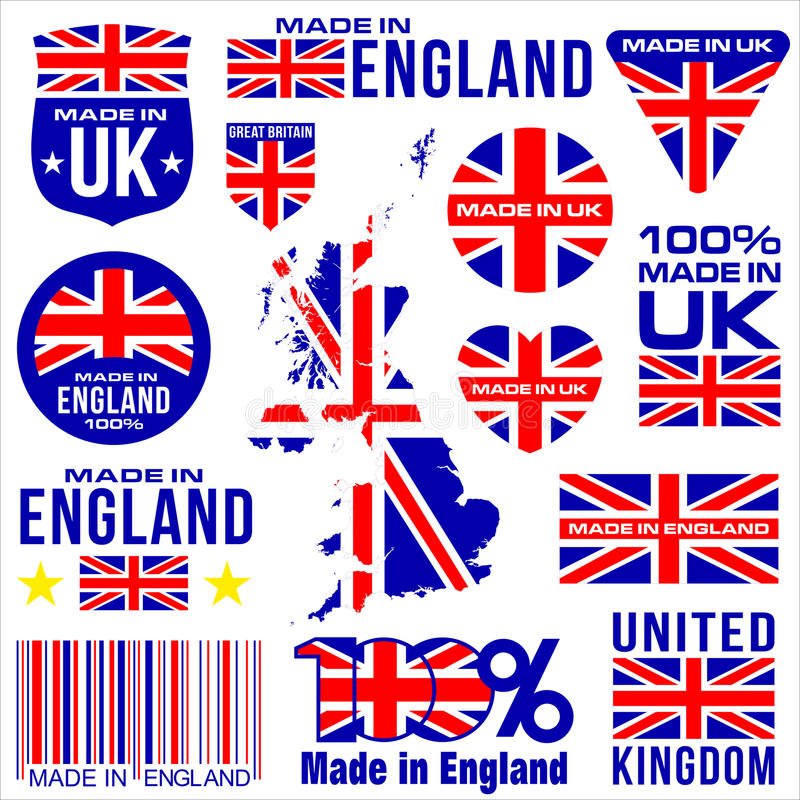 Made in UK ENGLAND vector illustration