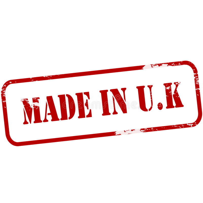 Made in UK royalty free illustration