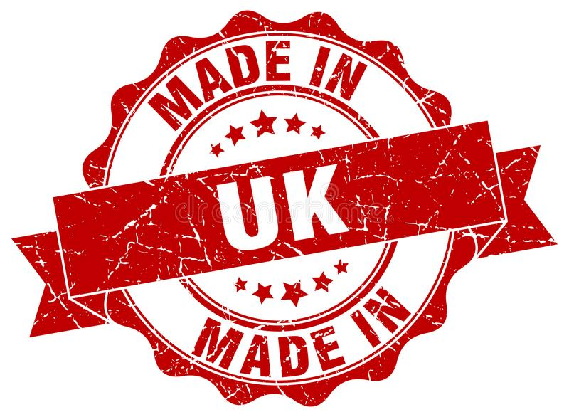 made in uk seal stock illustration