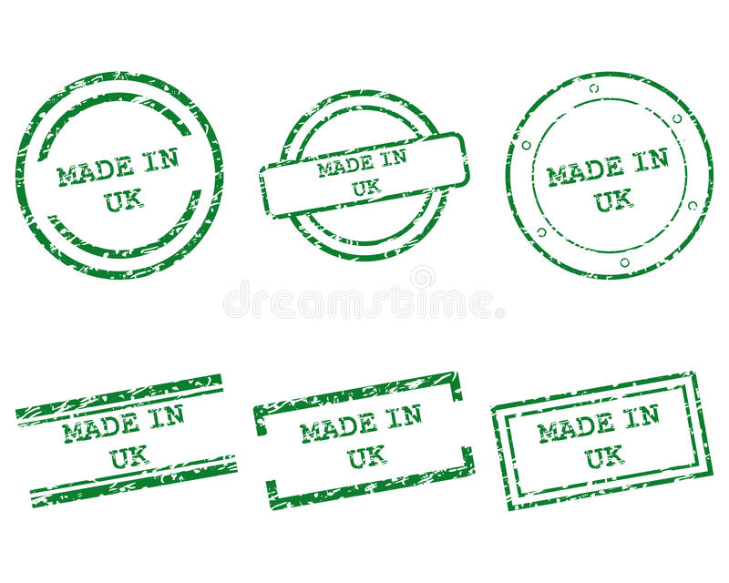 Made in UK stamps vector illustration