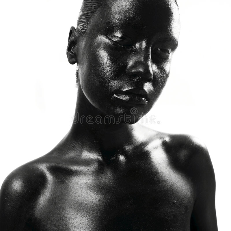 Made up black woman stock photo