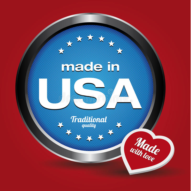 Made in USA stock illustration