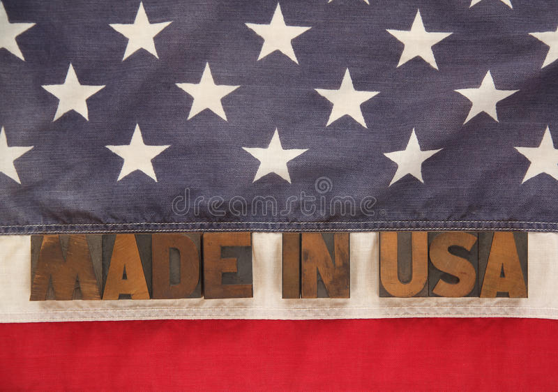 Download Made in USA stock photo. Image of letterpress, american - 25496118