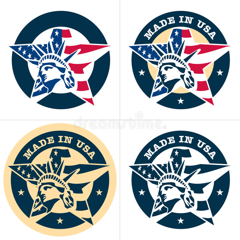 Download Made in USA stock vector. Illustration of emblem, american - 25964630
