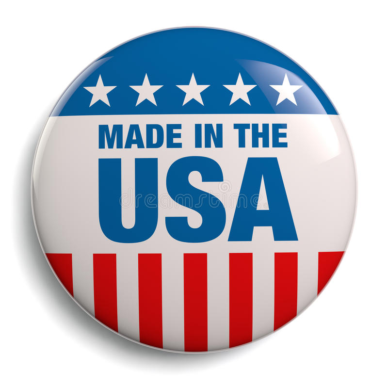 Made in USA American Button royalty free illustration