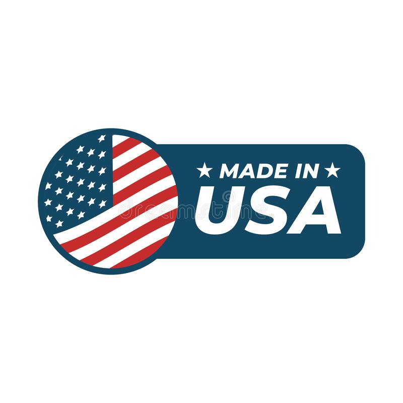 Made in the USA badge isolated on white background. Vector vector illustration