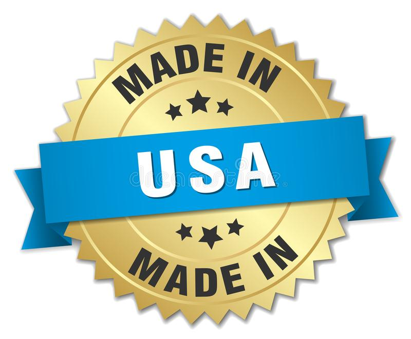 made in usa badge stock illustration