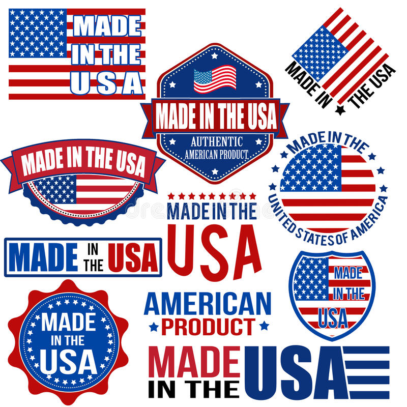 Made in the USA graphics and labels vector illustration