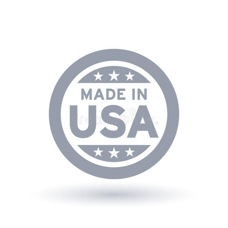 Made in USA icon. American product symbol. royalty free illustration