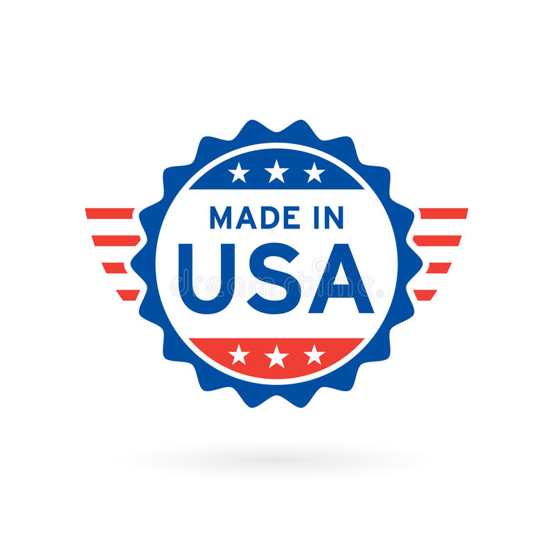 Made in USA icon concept badge design. Vector illustration. stock illustration