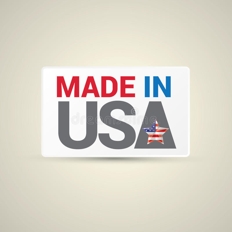 Made in USA Icon - Vector royalty free illustration