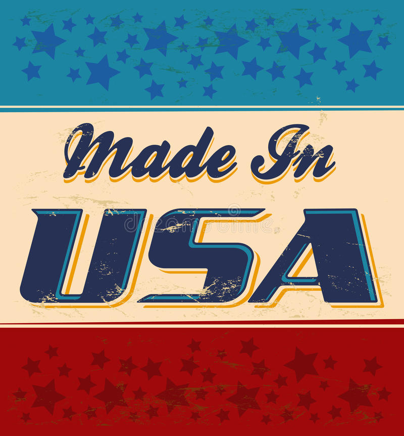 Made in USA retro sign vector illustration