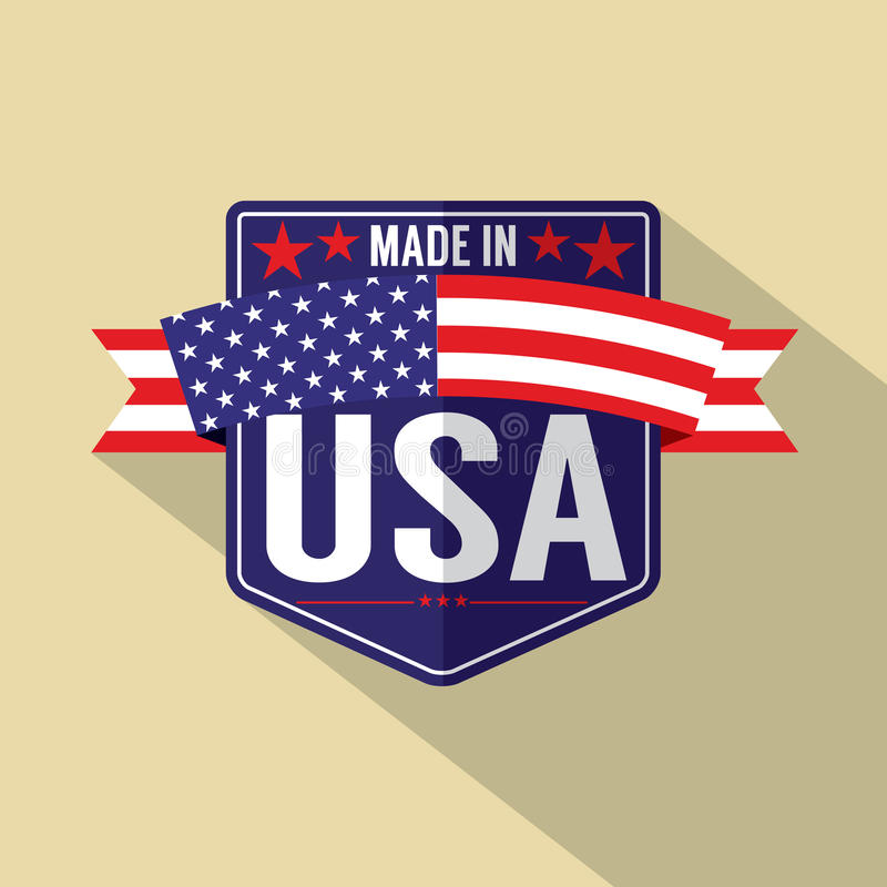 Made in USA Single Badge royalty free illustration